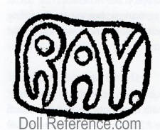 Jean Ray felt doll mark RAY
