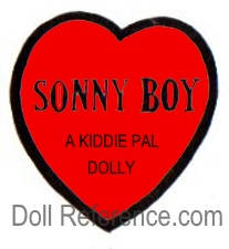 Regal Doll Company doll mark label Sonny Boy, A Kiddie Pal Dolly