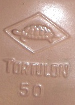 Rheinische Gummi und Celluloid-Fabrik doll mark turtle symbol inside a diamond Tortulon 50
