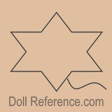 Friedrich Adolph Richter mechanical doll mark five pointed star with a tai