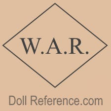 W. A. Rose & Company doll mark W.A.R. inside diamond