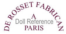 J. Rosset mechanical doll mark J. De Rosset Fabrican A Paris
