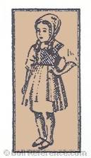 Rotkappchen GmbH. rubber head doll mark label standing girl symbol inside a square