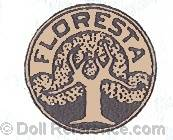 Scheyer & Company doll mark Floresta with tree inside a circle