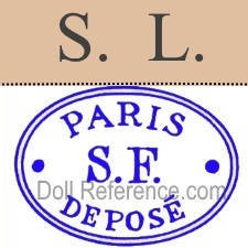 Louis Schneider et Fils doll mark S.L., doll label Paris S.F. Deposé