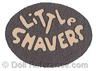 Elsie Shaver cloth doll mark label Little Shavers in circle