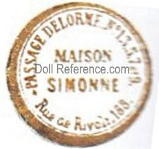 Passage DeLorme doll shop mark Maison Simonne paper labels