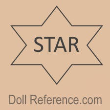 Star Manufacturing Company doll mark six pointed star