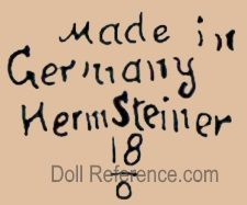 Hermann Steiner doll mark Made in Germany Herm Steiner 18/0