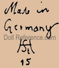 Hermann Steiner doll mark Made in Germany HSt 15