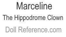 A. Steinhardt & Brothers doll mark label Marceline The Hippodrome Clown