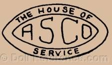 Adolph Strauss doll mark The House of ASCO Service
