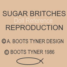 A. Boots Tyner doll mark Sugar Britches Reproduction