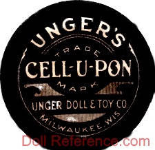 Unger Doll & Toy Co. doll mark label UNGER DOLL & TOY CO. MILWAUKEE, WIS