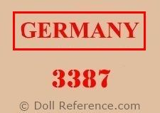 Adolf Wislizenus doll body mark 3387 Germany