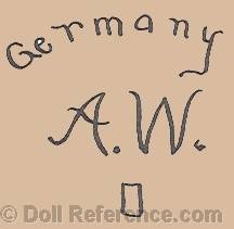 Adolf Wislizenus doll mark Germany AW o