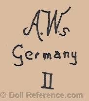 Adolf Wislizenus doll mark AWs Germany II