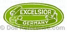Louis Wolf doll green label Excelsior W Germany