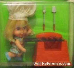 Mattel 3513 Little Kiddle Sizzly Friddle doll 1967
