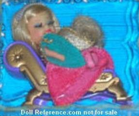 Storybook Kiddle 3527 Sleeping Biddle doll 1968