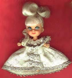 Storybook Kiddle 3528 Cinderiddle doll Rich Ball Gown 1968