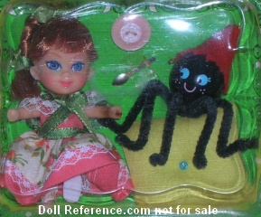 Storybook Kiddle 3545 Liddle Middle Muffet doll 1967-1968
