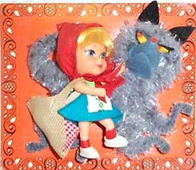 Storybook Kiddle 3546 Liddle Red Riding Hiddle doll 1967-1968