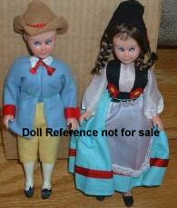 1960s Knorr Soup dolls 7 1/2""