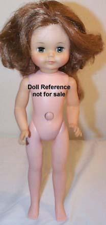 1963 Pre-Teen grow hair doll, 14""
