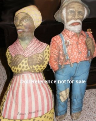 Advertising dolls; 1893 Aunt Jemima doll, Uncle Mose doll by Arnold Print Works