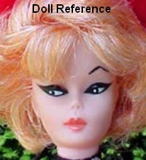 1960-1961 Allied Grand Hello Dolly doll face