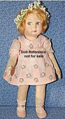 "Alma cloth doll, 15"" tall"