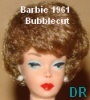 1961 Barbie bubblecut doll