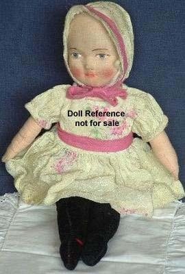 1920s Chad Valley cloth doll 12""