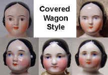 1850s Covered wagon china head