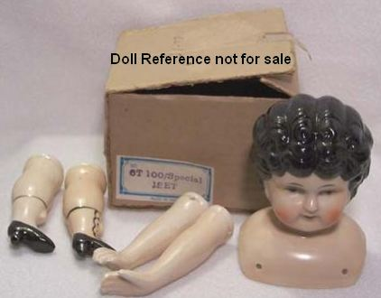 Reproduction Japan China head doll kit