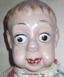 Comic Character doll, funny faced boy doll 19""