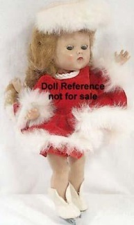 Cosmopolitan Ginger Ice Skating doll 1950s
