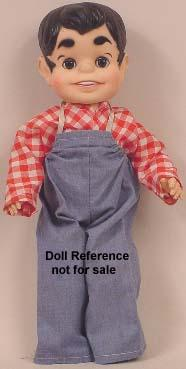 "1961-1962 Dondi doll, 16"", cartoon character"