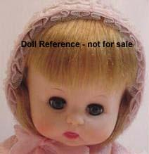 F & B 1968 Button Nose doll, 18""