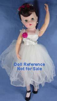 1958 F & B Junior Miss Ballerina doll, 21""