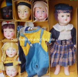 1921 Berwick Famlee doll set 16""