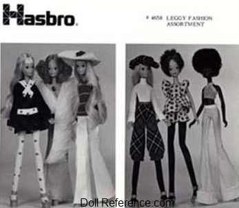 Hasbro Leggy Doll clothes 1972 ad Fashion Assortment