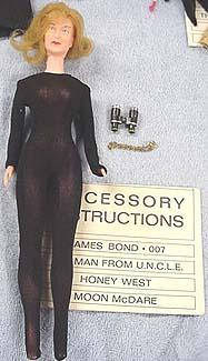 1965 Honey West doll, 11 1/2""