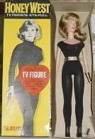 1965 Gilbert Honey West doll 11 1/2""