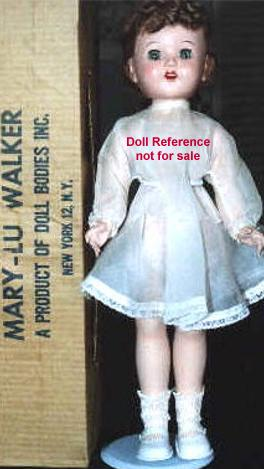 1952-1953 Doll Bodies Mary-Lu Walker doll, 18""