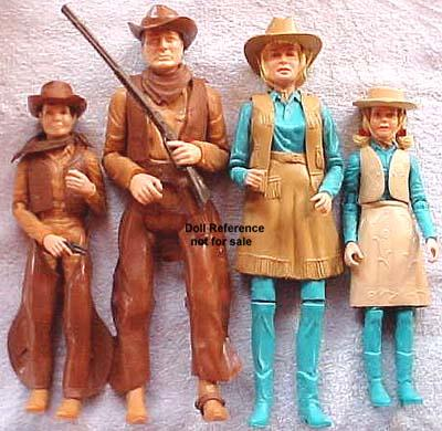 1965-1976 Marx Johnny West Doll Family