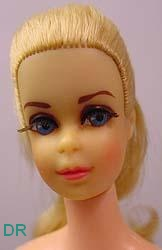 Mattel Truly Scumptious doll face 1969