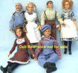 1975 The Waltons dolls, 8""