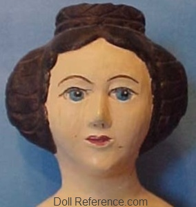 Antique papier mache Milliner's Model doll face